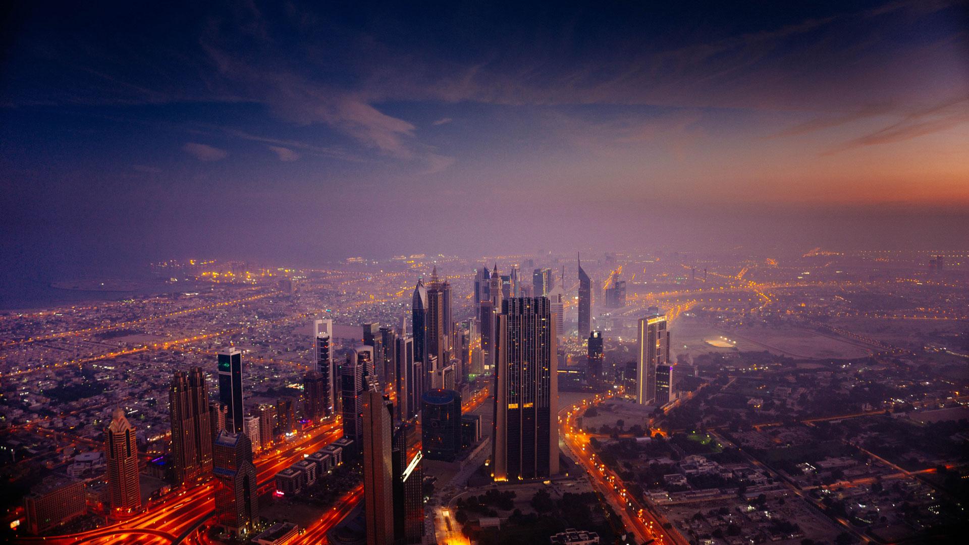 Dubai Skyline by Piotr Chrobot